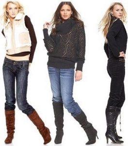 3. Заправлять объемные джинсы в сапоги